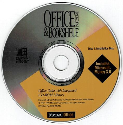MS Office 3.0 para Windows (Office 92 em CD-ROM)