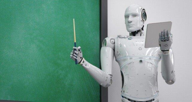 Michael J. Freeman created Leachim, a robot teacher who was programmed with the class curricular
