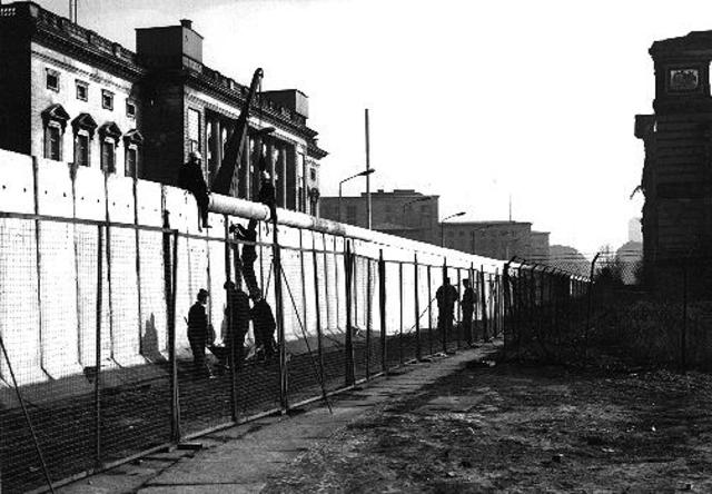 The completion of The Berlin Wall