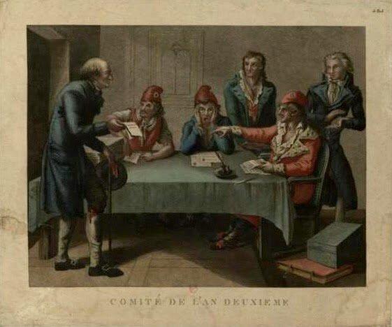 Robespierre entra en el comité de salud pública.