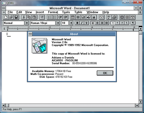 Microsoft Office para Windows (Office 1.0)