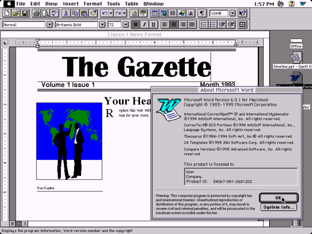 Microsoft Office 4.2