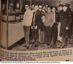 1969 Inauguración del Sistema de Transporte colectivo Metro