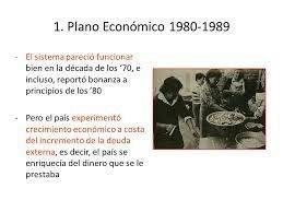 1980 Modelo económico