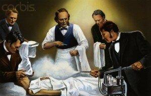 il chirurgo J. Lister inizia ad usare l'acido carbolico come agente antisettico