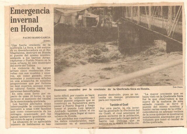 Sismo Honda (Tolima)