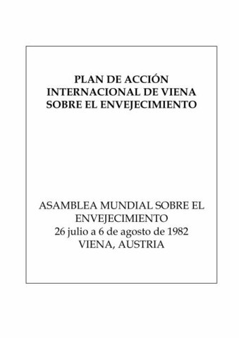 Plan de acción internacional de Viena sobre envejecimiento