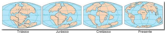 Origen de la vida en fullería de continentes en formación