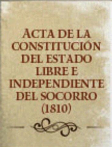 1810 - Constitución del estado libre e independiente del socorro