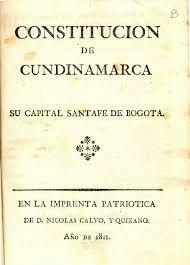 1811 - Constitución de Cundinamarca