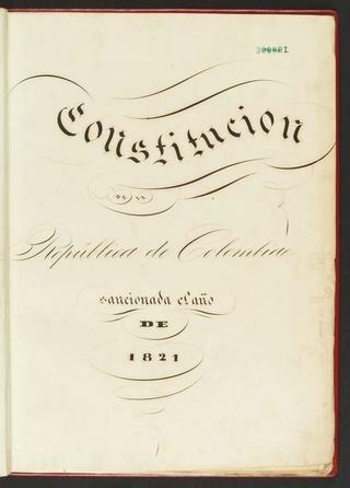 1821 - Constitución de Cúcuta