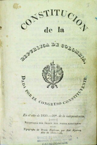 1831 - Ley Fundamental del Estado de la Nueva Granada.