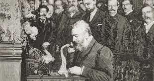 Alexander Graham Bell patenta el teléfono