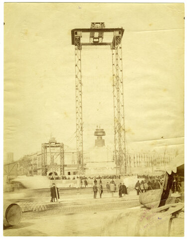 Construcció del Monument a Colom