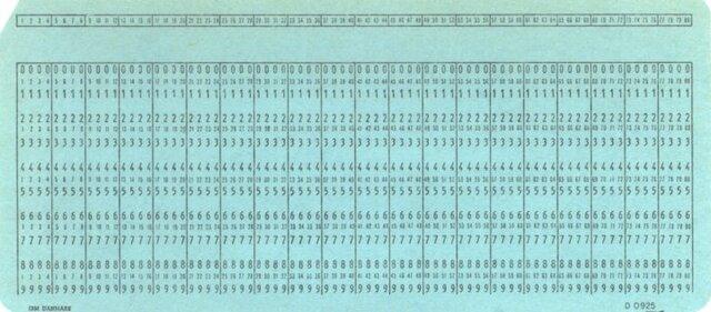 Tarjeta perforadora de Herman Hollerith