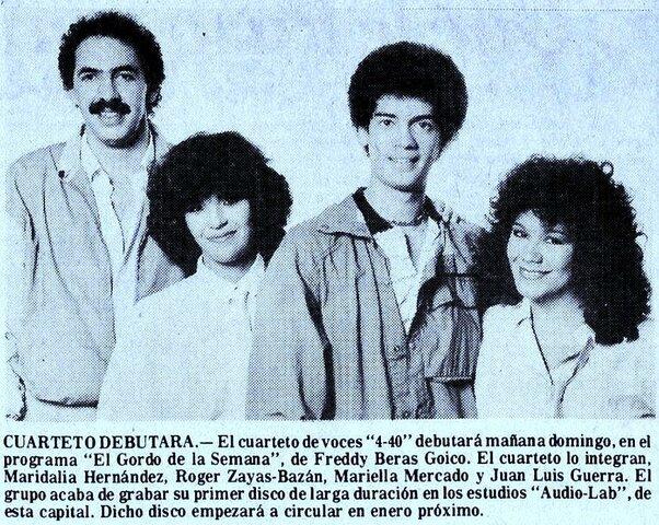Debut de Juan Luis Guerra y 440 por Televisión