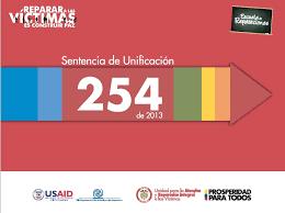 Sentencia de Unificación 254 de 2013 Corte Constitucional
