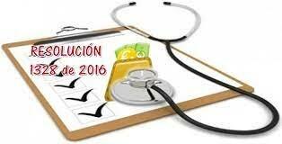Resolución 1328 de 2016 Ministerio de Salud y Protección Social