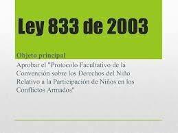 LEY 833 DE 2003