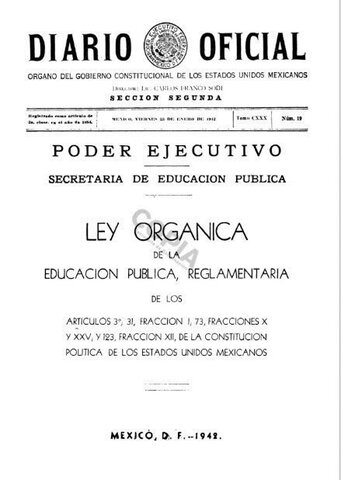 Ley orgánica de la Educación Pública Reglamentaria 1942
