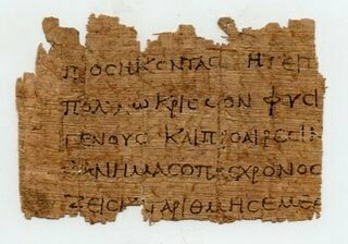 Vidrio y papiro