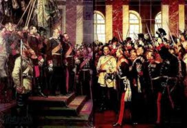 Unificación alemana: Proclamación del II Reich