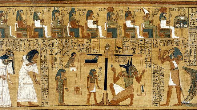 Egipto utiliza un soporte manejable para la escritura.