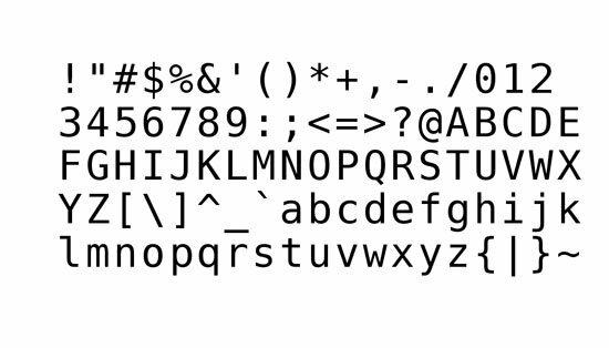 1962 Código Ascii