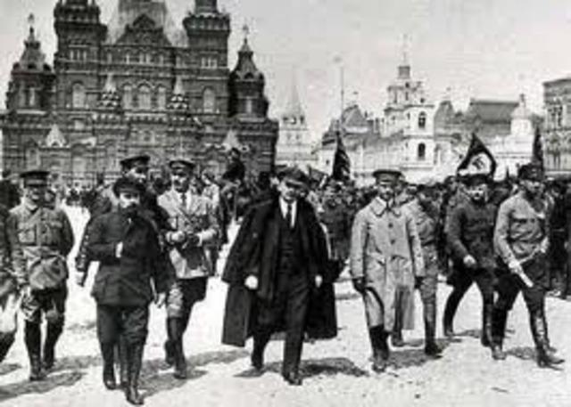 Inicio de la Revolución Rusa.