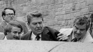 President Reagan shot