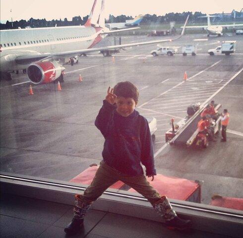 mi primer viaje en avión y a Bogotá