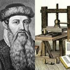 XV, d.C. Johannes Gutenberg