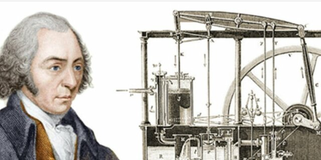 XVIII Máquina de Vapor, James Watt