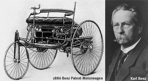 Kart Benz, Vehículo con motor de gasolina.