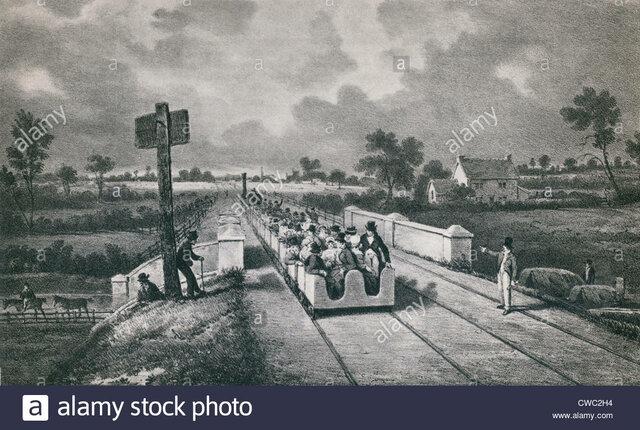 Primera línea de ferrocarril interurbano, la línea entre Liverpool y Mánchester