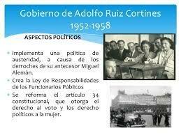 Gobierno de Adolfo Ruiz Cortines (1952-1958)