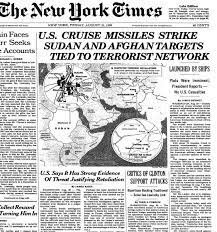 Bombing of Sudan and Afghanistan