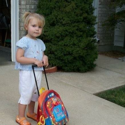 Going to school in the USA (2 years old)