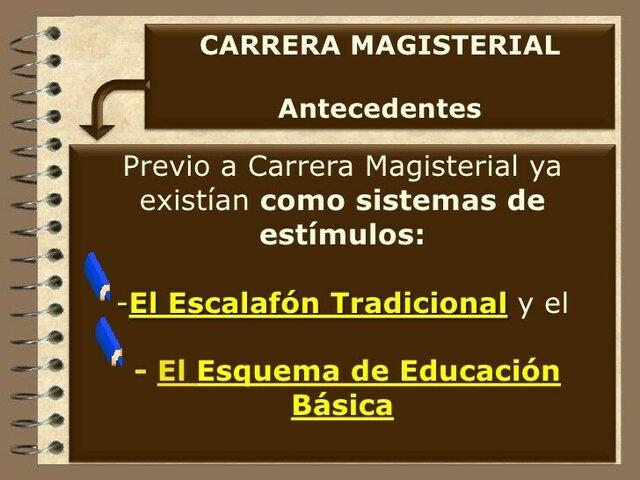 ESCALAFON TRADICIONAL EL ESQUEMA DE EDUCACIÓN BÁSICA