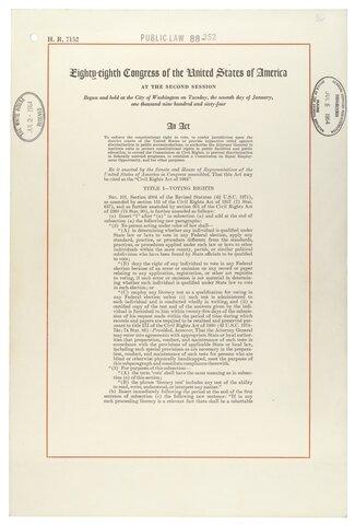 Cambios en la legislación de los derechos civiles de Estados Unidos