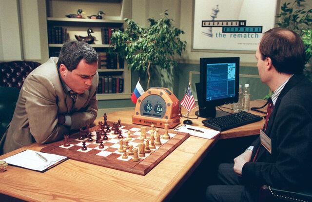 Deep Blue defeats Garry Kasparov at chess