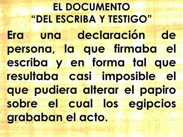 Documento Escriba y Testigo