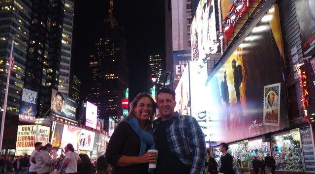 Minha mãe viajou de férias para Nova Iorque, conheceu o meu pai e começaram a namorar
