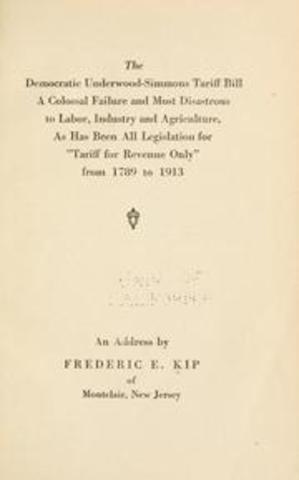 Underwood Tarrif Bill