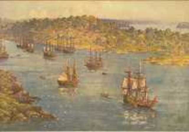 First Fleet arrives in Botany Bay