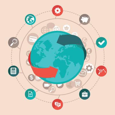 Economía, globalización y comunicación timeline
