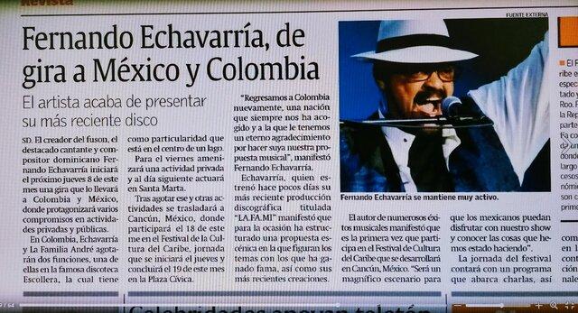 De gira por Mexico y Colombia