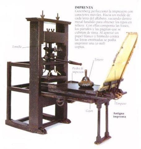 Gutemberg inventa la imprenta