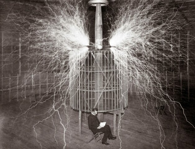 The invention of the Tesla coil.