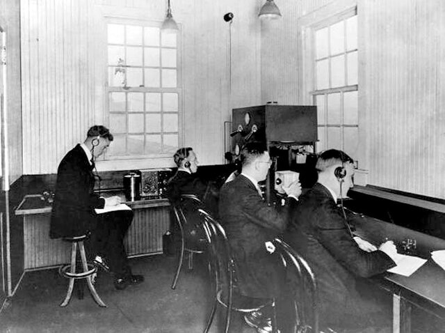 The first radio station